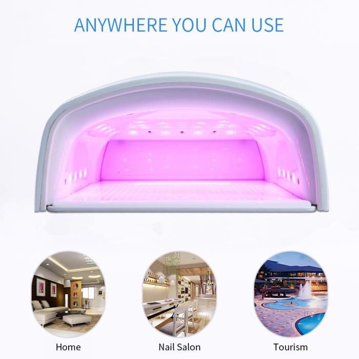 Red Light 48W Cordless UV Lamp Nail Polish Dryer Fast Drying led gel nail uv lamp