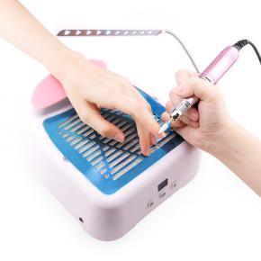 3-IN-1 Nail Dust Vacuum Cleaner & Nail Drill Manicure Machine table Lamp