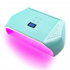 High Power 128w Pink Leds Dual hand cordless led uv nail light lamp